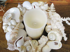 Shell Wreath at Candy's Cottage